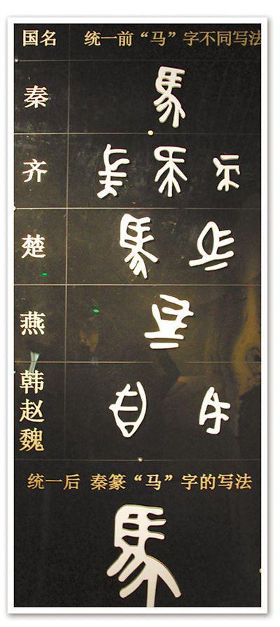 马字的不同写法.-小篆 笔画舒卷刻春秋 文史杂谈