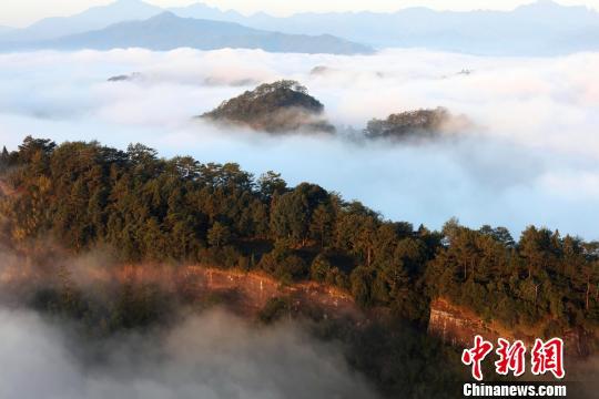 每到冬季,雨過天晴,武夷山會出現壯觀的雲海,站在武夷山上拍雲海,彷彿進入人間仙境。 邱汝泉 攝