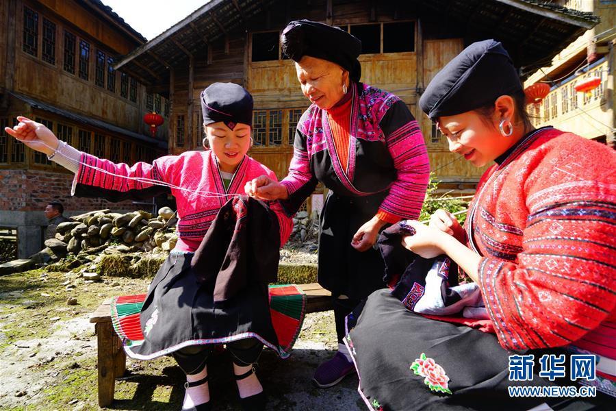 #(社會)(1)廣西龍勝:紅瑤服飾美  代代傳技藝