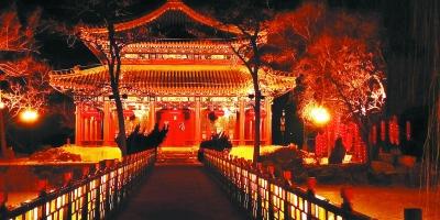 北京:19处灯会灯光秀伴市民闹元宵